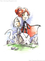 2011 White Queen & Black Queen by Agnes Garbowska, Comic Art
