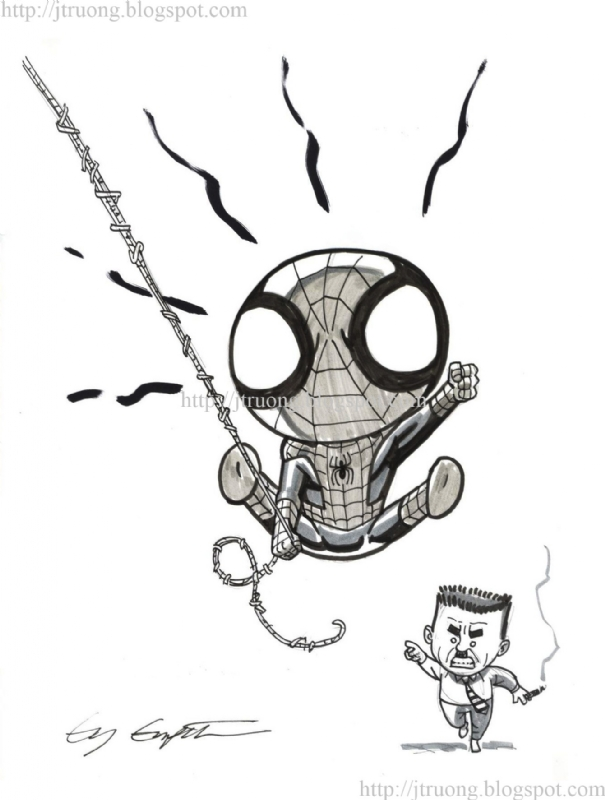 2012 Spider-Man by Ty Templeton Comic Art