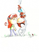 2009 Mary Jane & Spider-Man by Agnes Garbowska, Comic Art