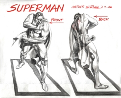Superman Sketch from DC Bookends Comic Art