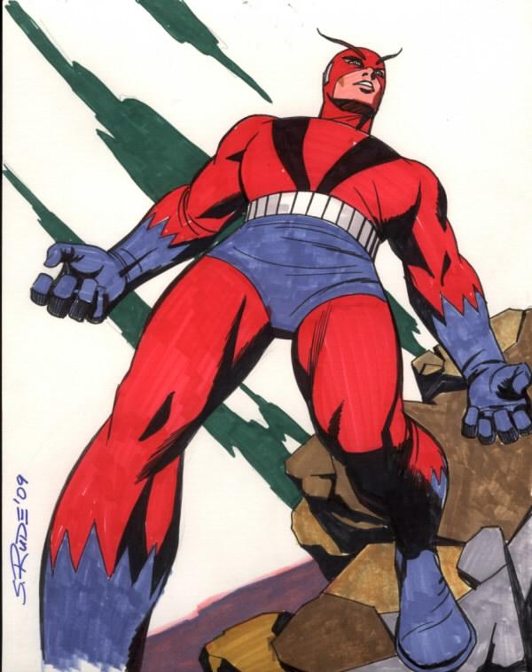 Giant Man Color Comic Art
