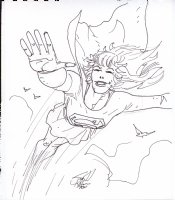 Supergirl Comic Art