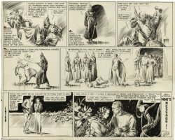 Flash Gordon Sunday page Comic Art