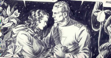 Alex Raymond: Flash Gordon detail Comic Art