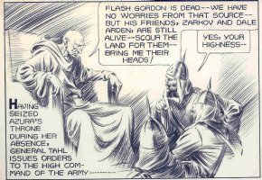 Flash Gordon detail by Alex Raymond Comic Art