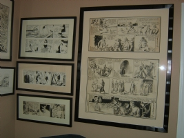 Alex Raymond Flash Gordon framed 2  Comic Art