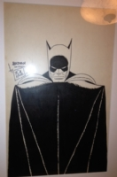 Bob Kane Batman portrait Comic Art
