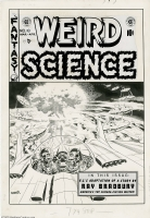 Weird Science 18 Wood cover! Comic Art