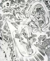 Jack Kirby Studio * Silver Surfer and Dr. Doom  Comic Art