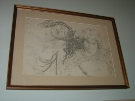 Artemis and Apollo unpublished pencil study Comic Art
