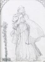 BWS: Young Girl   pencil drawing 1970s Comic Art