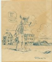 Robert Crumb vintage ink piece Comic Art