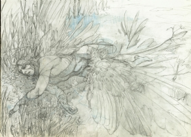 ICARUS finished pencil preliminary--early version Comic Art