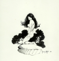 Frazetta 1970s MIDDLE EARTH Portfolio plate THE PERFECT NUDE Comic Art