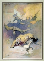 Frank Frazetta:  Pellucidar  Jungle Girl and Sabertooth Comic Art