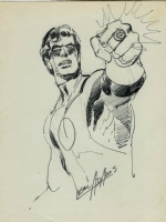 Neal Adams 1974 Green Lantern ink drawing for sale Comic Art