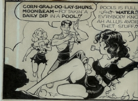 Frazetta Lil Abner BABE detail 1 Comic Art