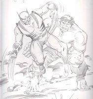 Herb Trimpe Hulk/Wolverine Comic Art