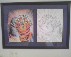 The Infinity Gauntlet (Framed) Comic Art