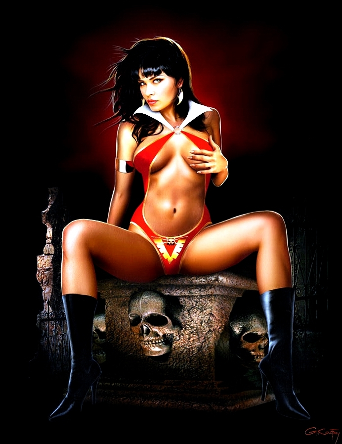 Vampirella  The Look  by Gennadiy Koufay Comic Art