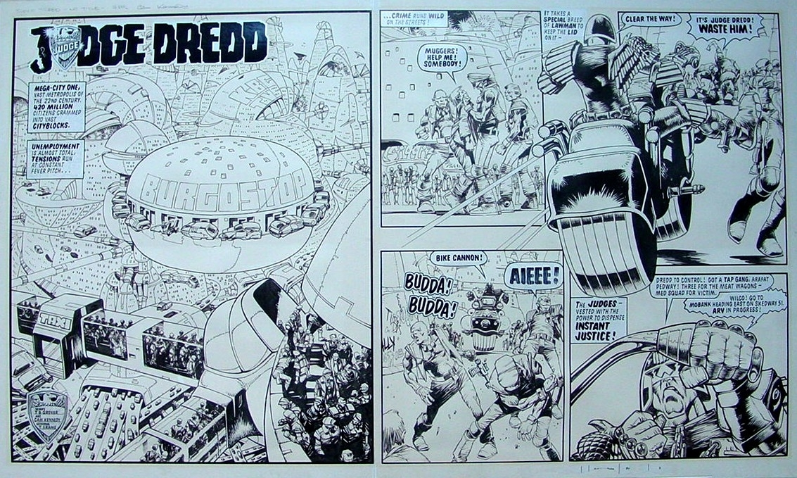 CAM KENNEDY dredd dps Comic Art