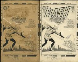 FLASH #117 Cover Art (1960) by Carmine Infantino Comic Art