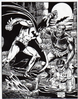 BATMAN AND WEREWOLF, Comic Art