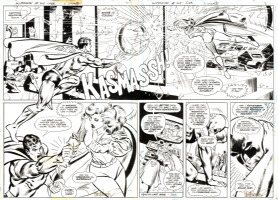 Superman 308 - pages 2 and 3 Comic Art
