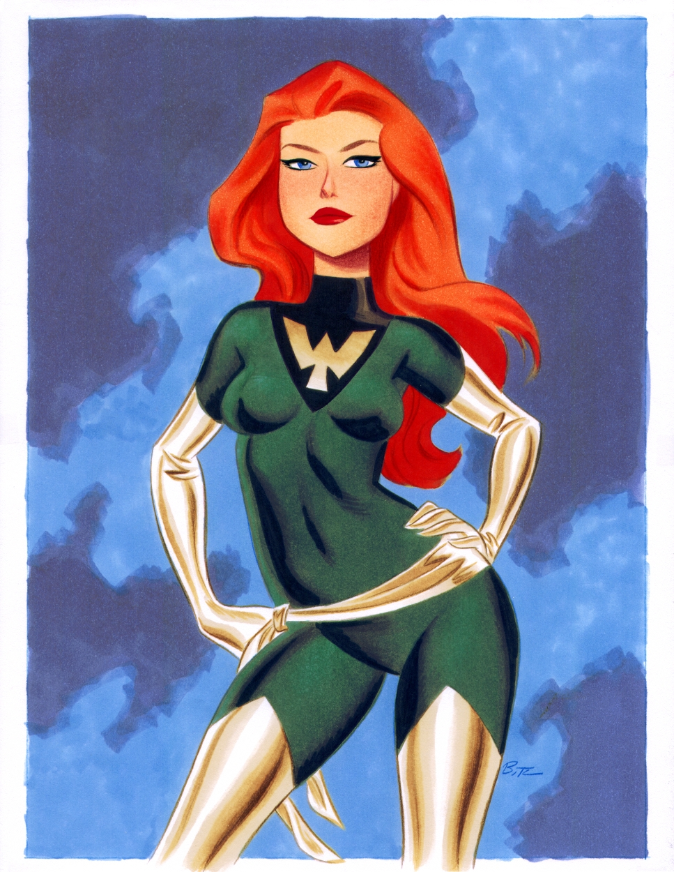 Phoenix (Jean Grey) - Bruce Timm Comic Art