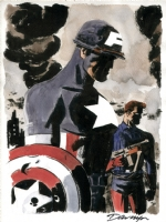 Captain America and Bucky - Darwyn Cooke Comic Art