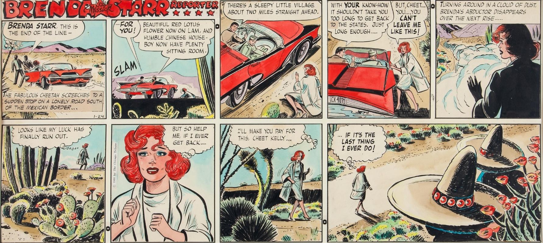 Original Storyboard Artwork From A Brenda Starr Reporter Comic