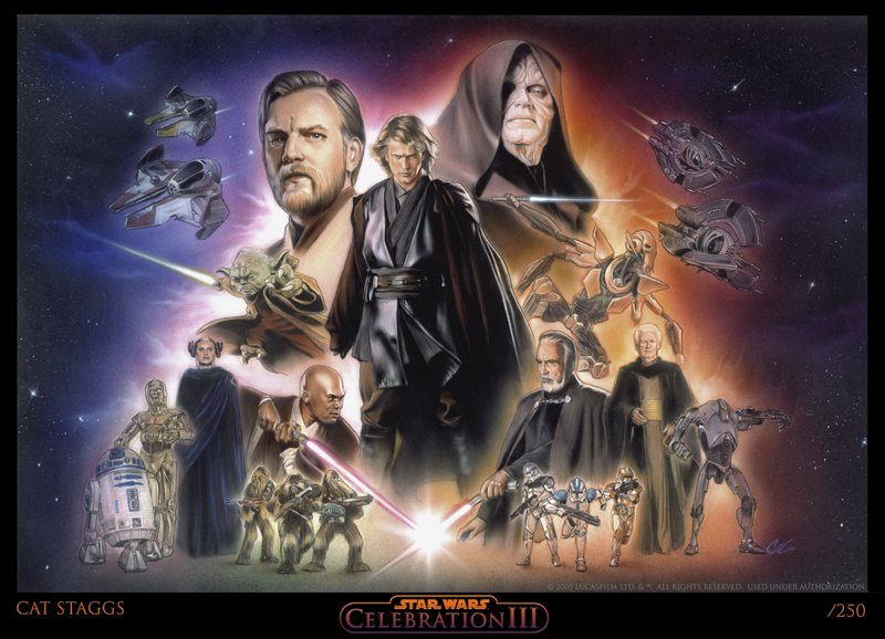 Star Wars Revenge of the Sith Comic Art