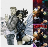 Smallville:Harbinger Original Cover Art Comic Art
