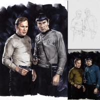 Star Trek Federation:first 150 Years-Kirk and Spock Comic Art