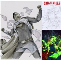 Smallville Lantern #4 Comic Art