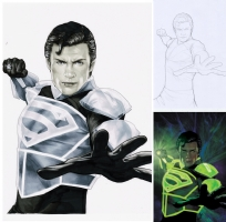 Smallville: Lantern #1 Comic Art