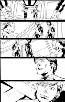 New Mutants V3 #8 page 22 - Warlock, Cypher and team Comic Art