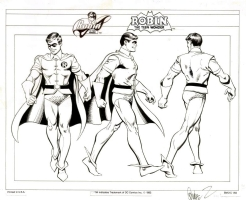 Jose Luis Garcia Lopez / Dick Giordano - Robin Style Guide Model Sheet Turnaround Comic Art