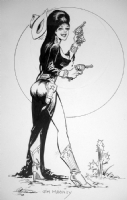 Elvira Pinup Comic Art