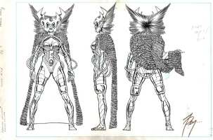 Pollard OHMU Deathbird Comic Art