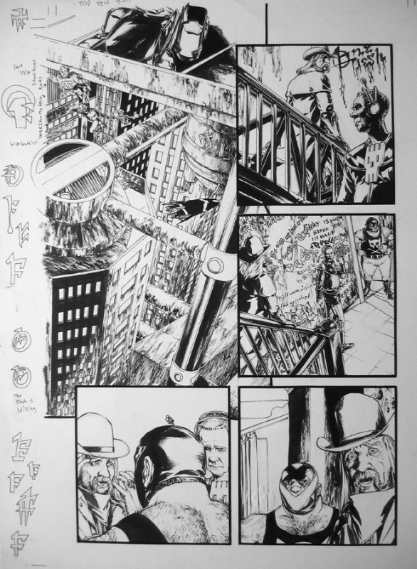 Gene Ha Top 10 issue 9 pg 1 Comic Art