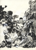 Jorge Zaffino (1959-2002) - The Punisher:  Kingdom Gone Graphic Novel Cover Comic Art