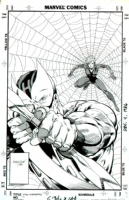 Jackson �Butch� Guice and Bob Layton - Solo Avengers 7 Cover Starring Hawkeye and Black Widow Comic Art