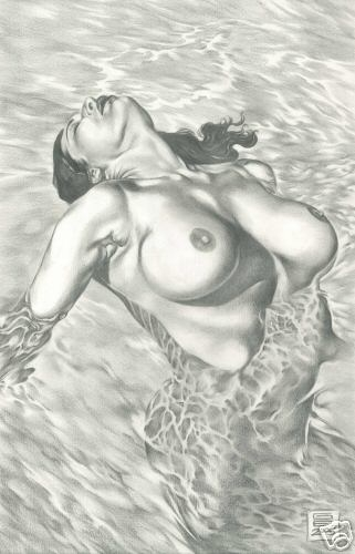 NUDE BATHING Comic Art