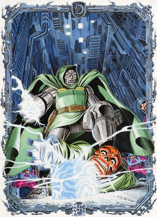 Dr Doom/Red Skull Comic Art