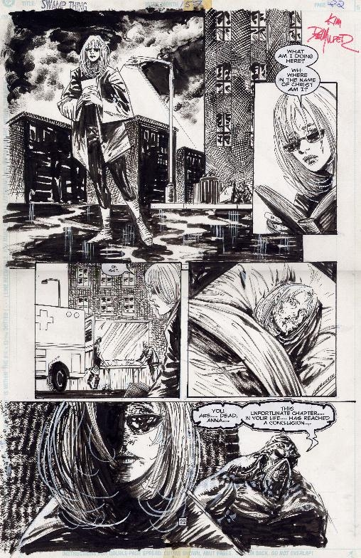 Swamp Thing #157 page 22 Comic Art