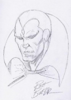 Vision, by Rich Buckler Comic Art
