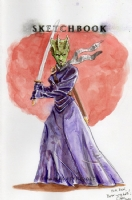 Madame Vastra, by Charles Fetherolf, Comic Art
