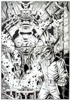 Red Skull and Fourth Sleeper, by Giorgio Comolo, Comic Art
