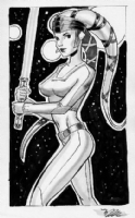 Aalya Secura, by Michael Dooney Comic Art